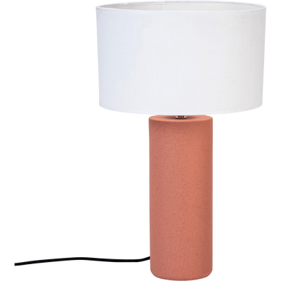 Pied de lampe en céramique terracotta H40cm-SYL
