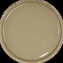 Assiette à dessert en faïence vert olivier D21cm-VADIM