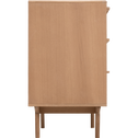 Commode 3 tiroirs plaquée chêne-PIASTRE