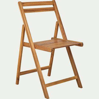 Chaise de jardin pliante en acacia huilé-JULIA