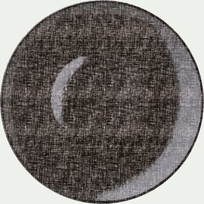 Assiette plate en faïence noire D27cm-SAFIA