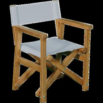 Chaise De Casting 40x34x50cm Gris MAYA