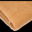 Serviette de bain marron camel 50x90cm-COLINE