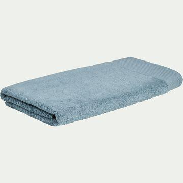 Drap de douche en coton peigné - bleu calaluna 70x140cm-AZUR