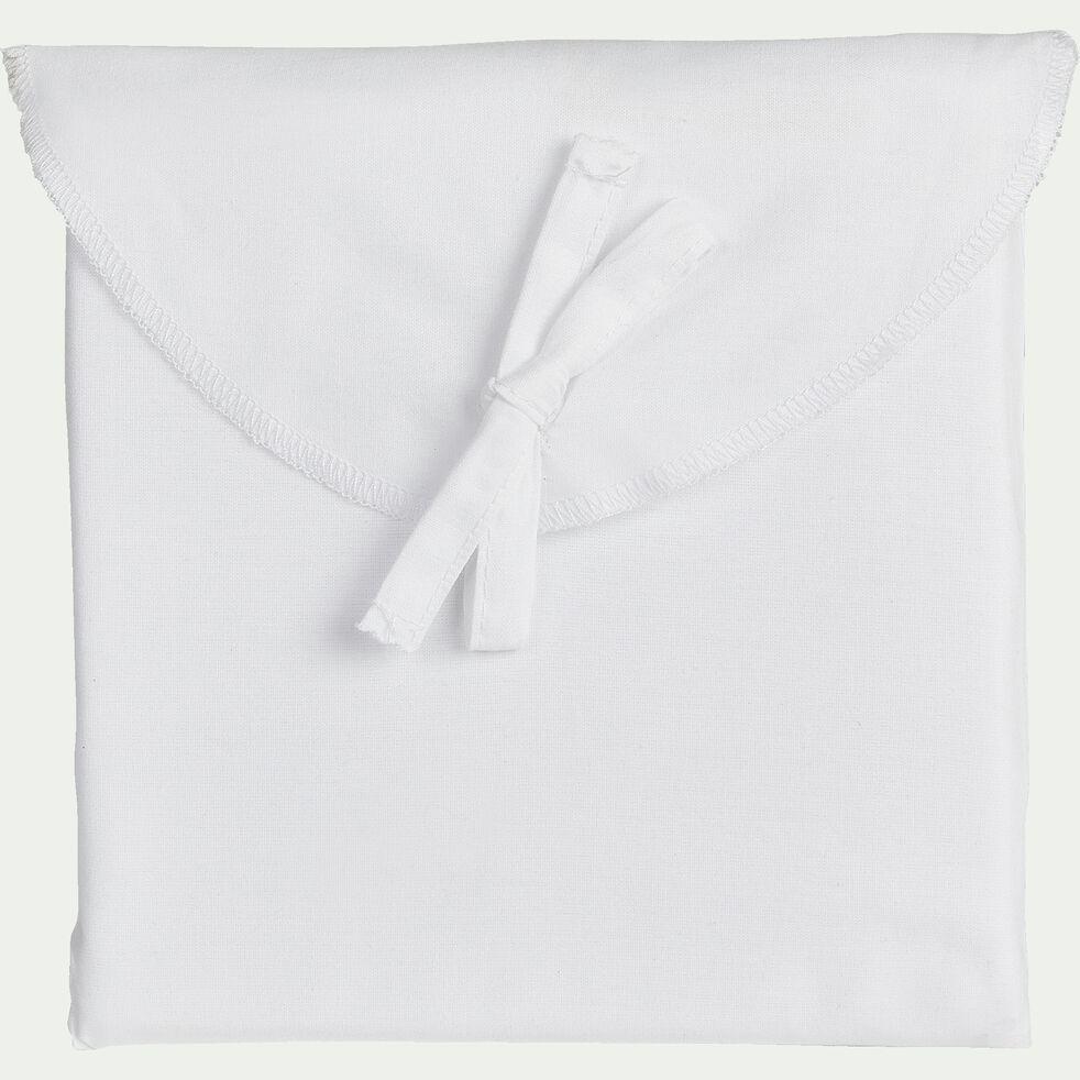 Lot de 2 taies oreiller en coton - blanc 50x70cm-CALANQUES