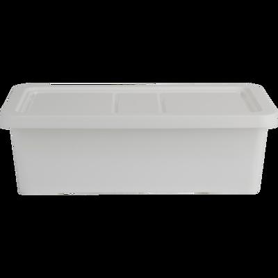 Boîte de rangement en plastique blanc H19xP10,5xl34,5 cm-ANDATI