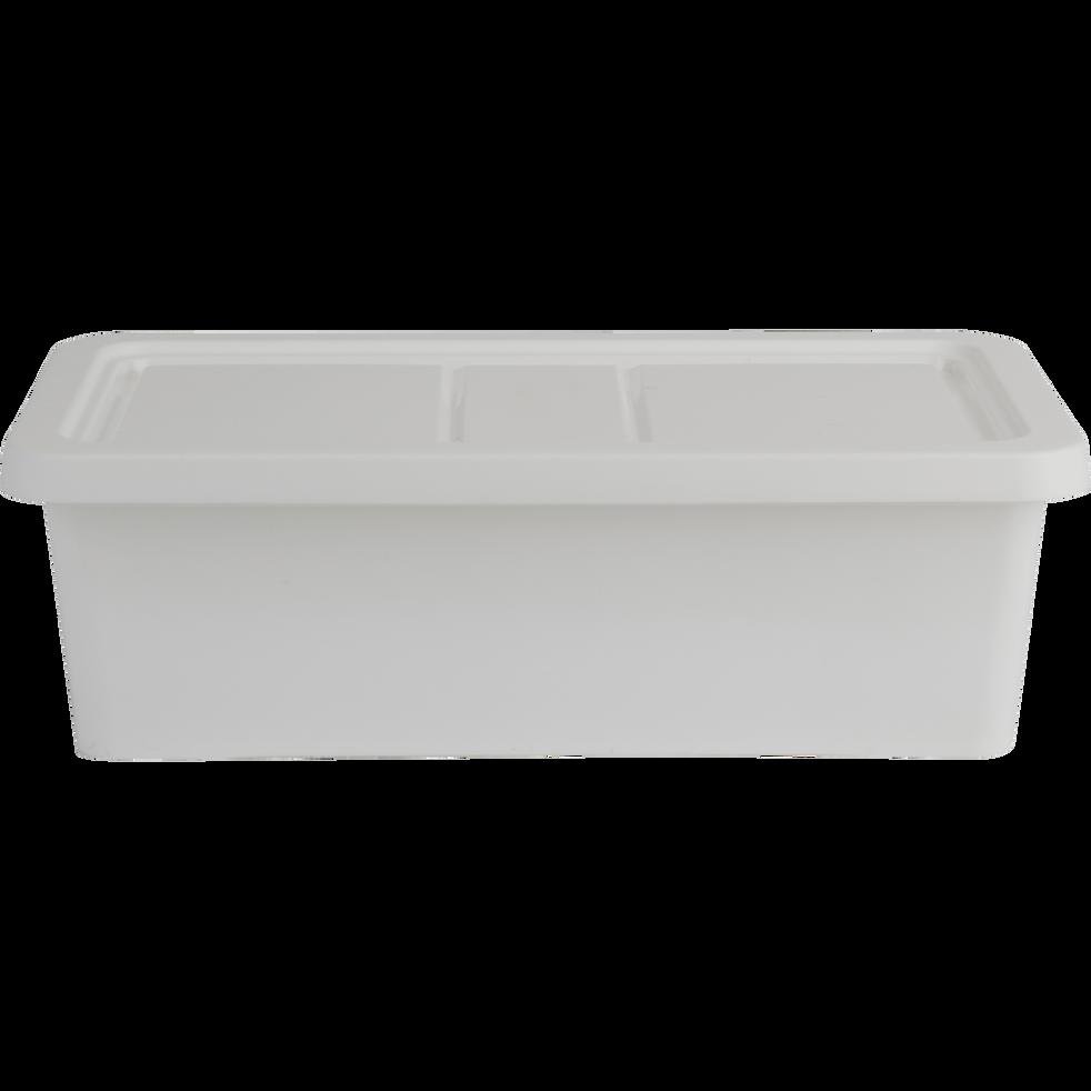 meilleur service 989ce 0e8b8 ANDATI - Boîte de rangement en plastique blanc H19xP10,5xl34,5 cm