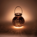 Photophore en verre marron H26cm-KALA