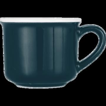 Tasse en porcelaine bleu figuerolles 9cl-CAFI