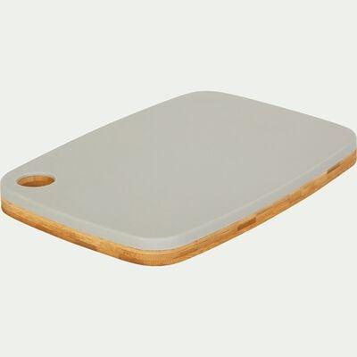 Planche à découper bi-matière en bambou grise 25x18cm-RIOU