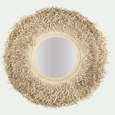 Miroir mural en feuilles de palmier D90cm-FICCINO