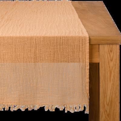 Chemin de table en lin orange 40x150cm-ICARE