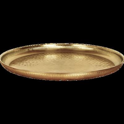 Plateau en acier doré D53cm-TAURI