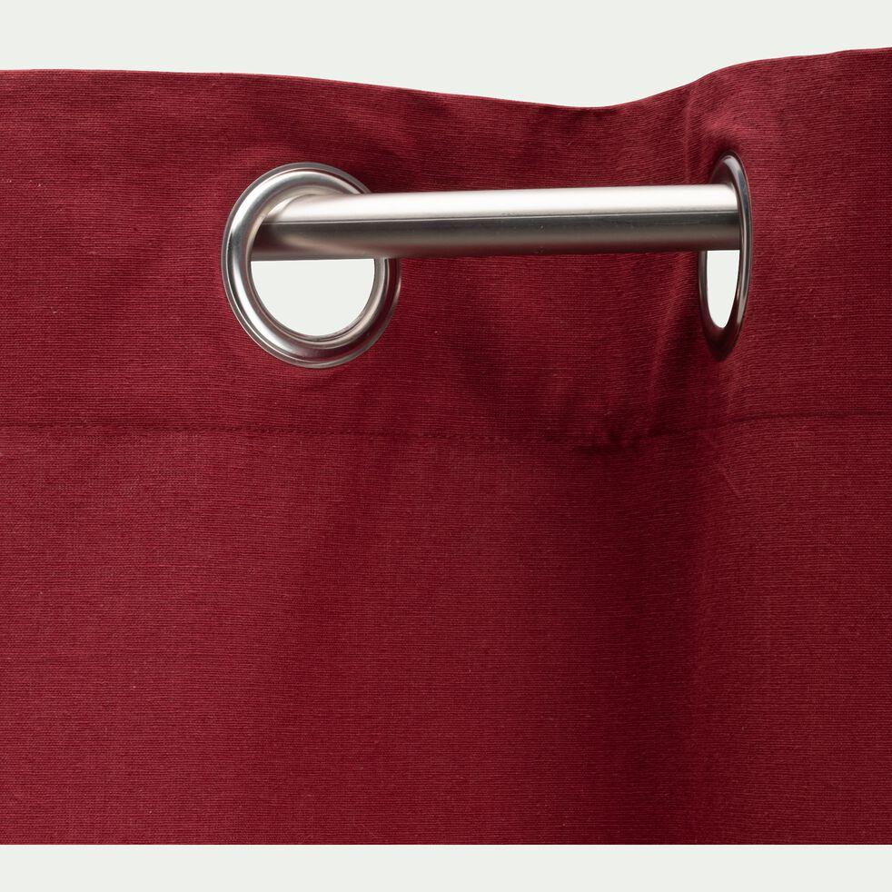 Rideau à œillets en coton - rouge sumac 140x250cm-CALANQUES