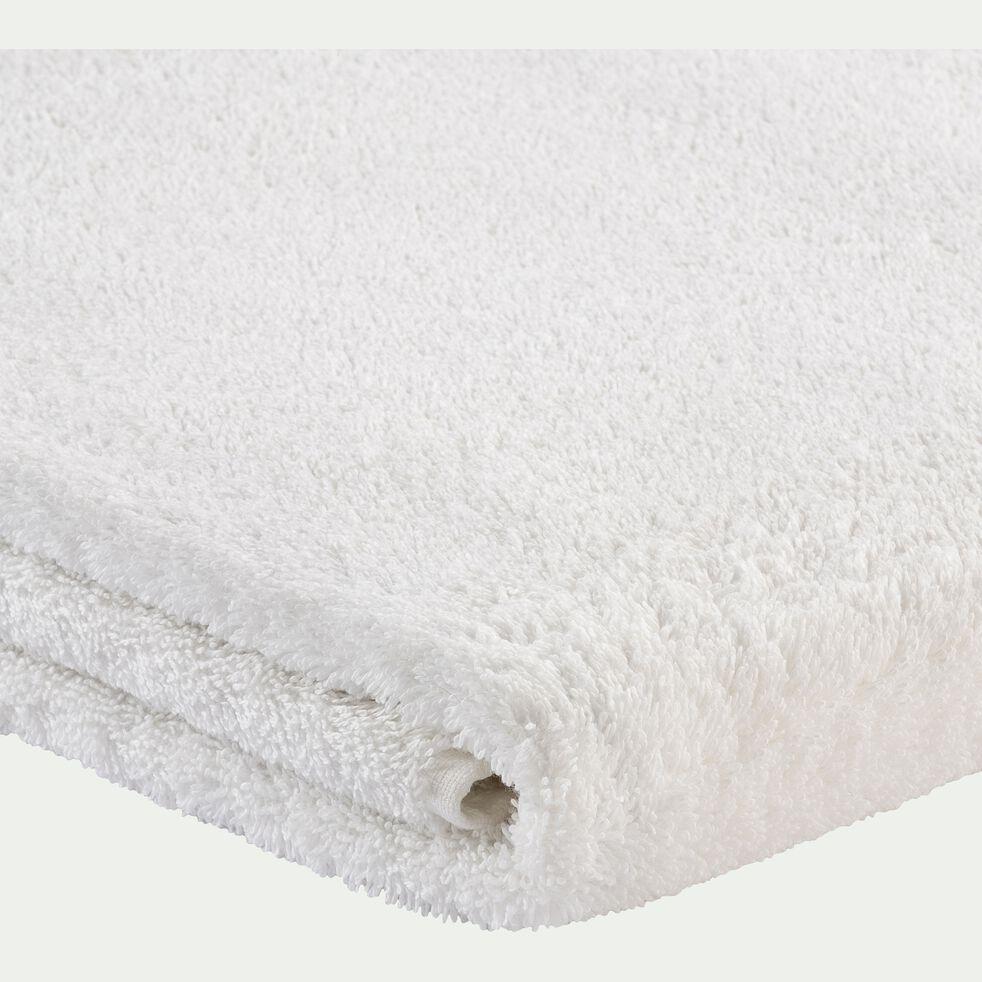 Drap de douche brodé en coton - blanc ventoux 70x140cm-Romane
