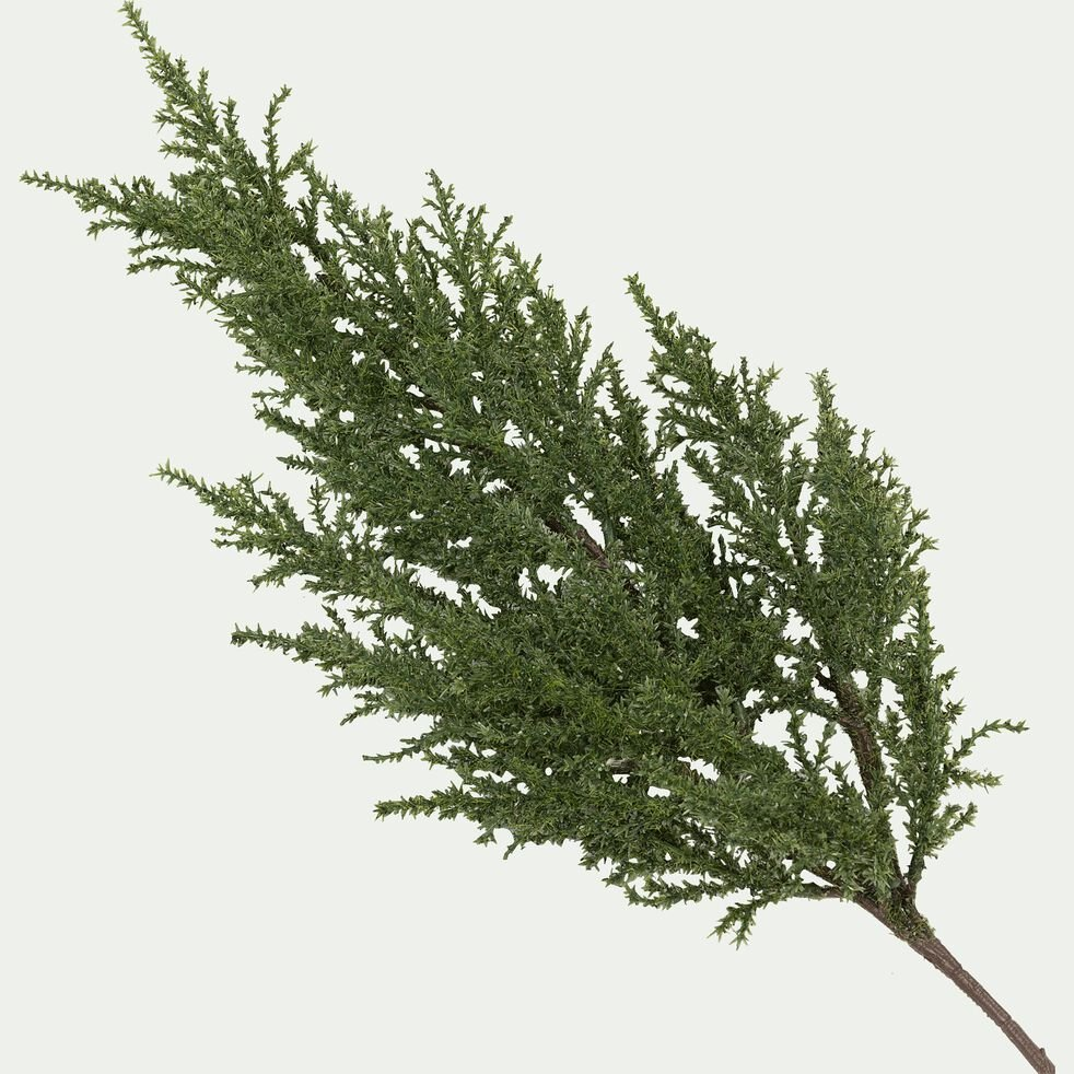 Branche déco en plastique - L70xD5cm vert-FENO