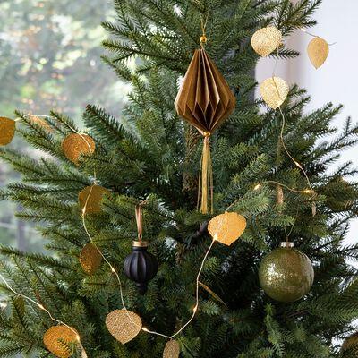 Boule de Noël en céramique noire D5cm-MAKATI