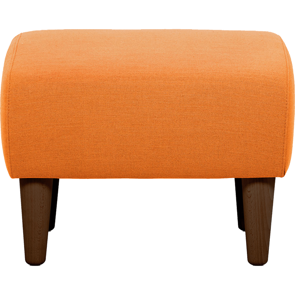 pouf en tissu orange leggy poufs et repose pieds alinea. Black Bedroom Furniture Sets. Home Design Ideas