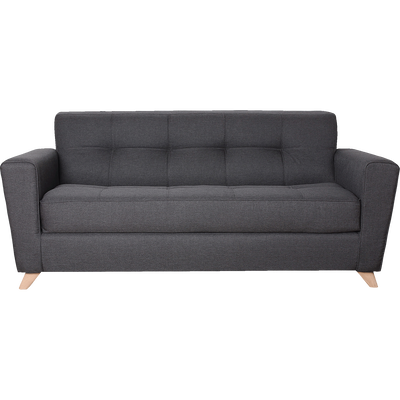 Canapé 3 places convertible en tissu anthracite-VICKY