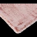 Tapis en viscose rose poudré 120x170cm-TANSEN