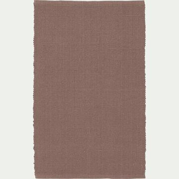 Descente de lit en coton - rose argile 50x80cm-CAMELIA