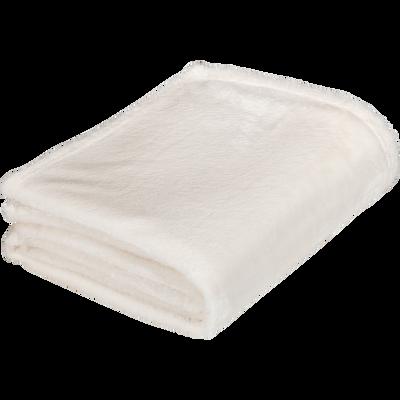 Plaid doux blanc ventoux 180x220cm-ROBIN