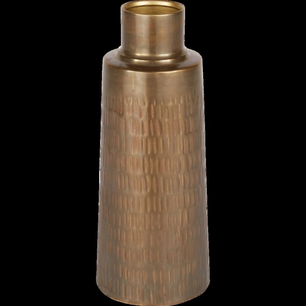 Vase en fer D12xH31cm-CANOPUS