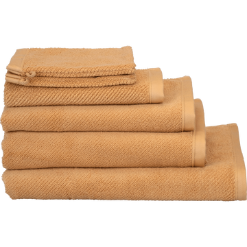 Linge de toilette marron camel-COLINE
