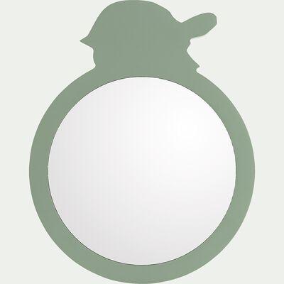 Miroir tortue en bois - vert D18cm-Amira