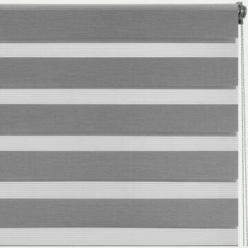 Store enrouleur tamisant gris anthracite82x190cm-JOUR-NUIT