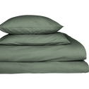Lot de 2 taies d'oreiller en coton Vert cèdre 65x65cm-CALANQUES