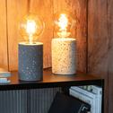 Lampe à poser en terrazzo gris H12,5xD9cm-PRAO
