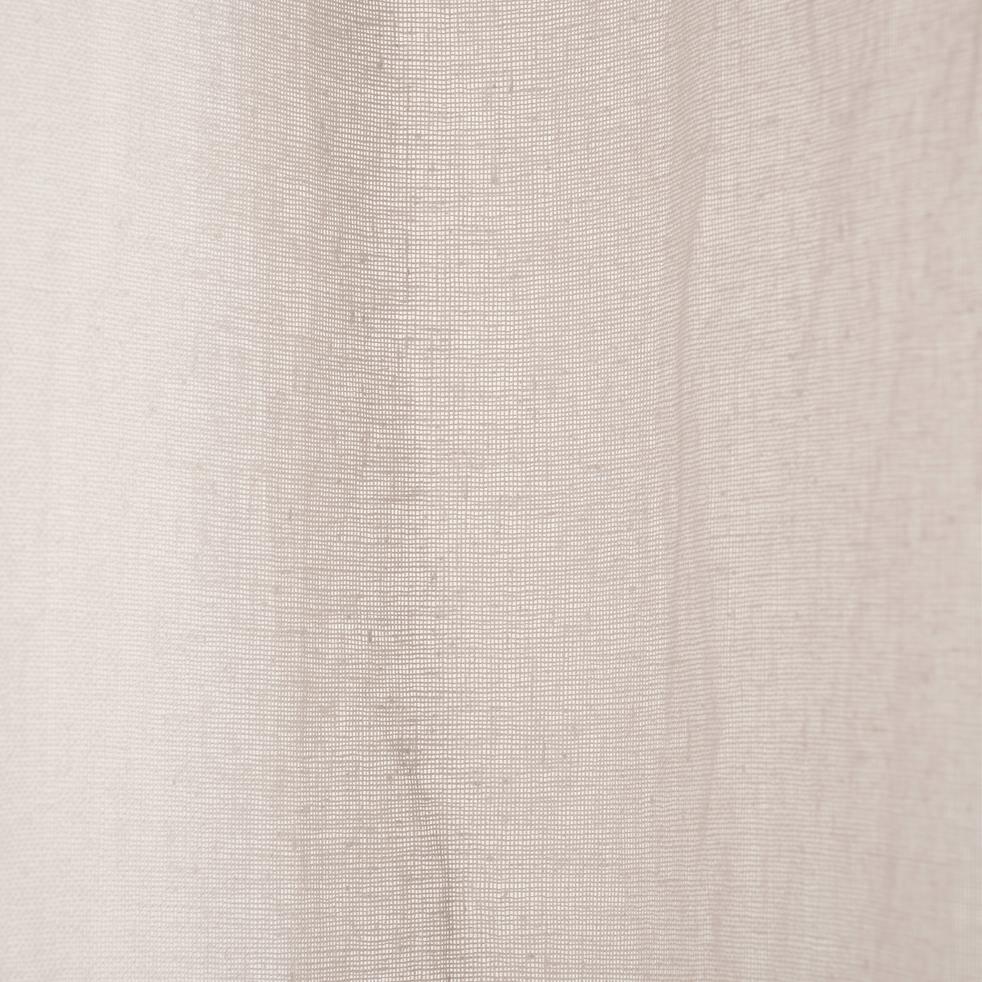 Voilage à œillets en lin gris borie 135x300cm-LEO