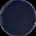 Assiette plate en faïence bleu myrte D27cm-VADIM