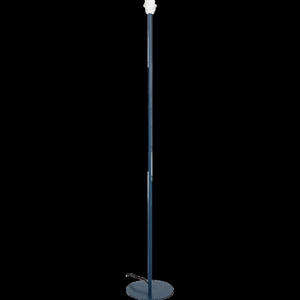 Pied de lampadaire en métal bleu figuerolles H141cm-OLIVIO