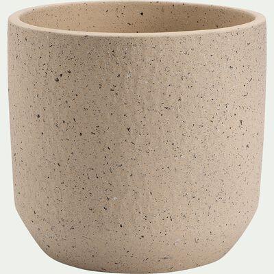 Pot en terre cuite - H22xD24cm blanc cassé-PENTA