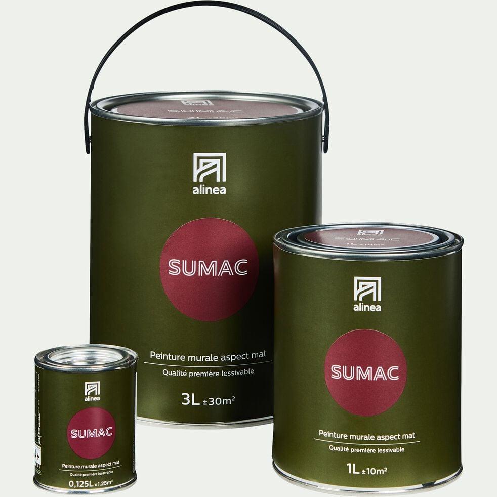 Peinture acrylique mate multi-supports - rouge sumac 1L-PEINTURE