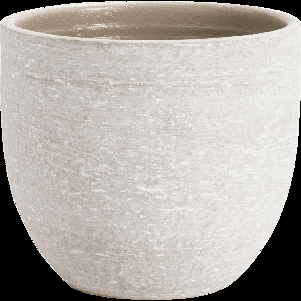Pot en céramique beige D22xH20cm-KERVO