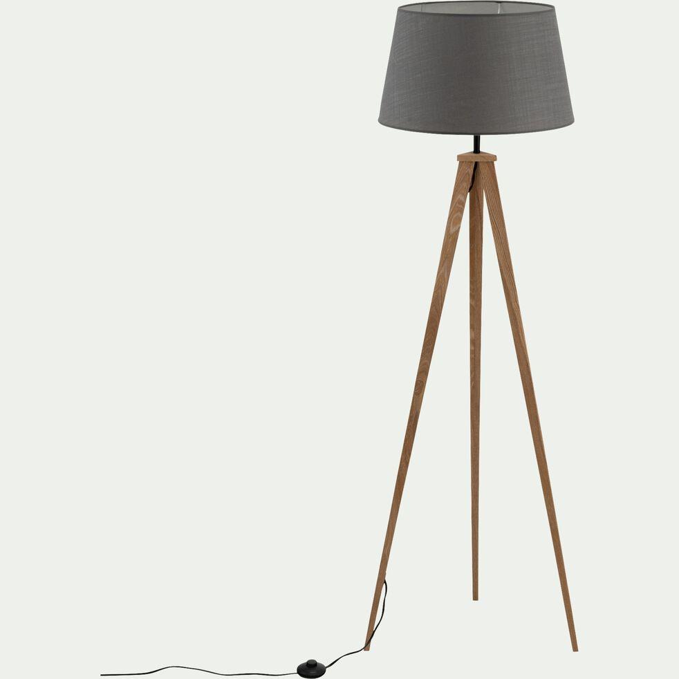 Lampadaire en bois - gris restanque D45cm-TRIX