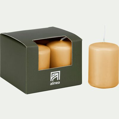 4 bougies votives beige nèfle-HALBA