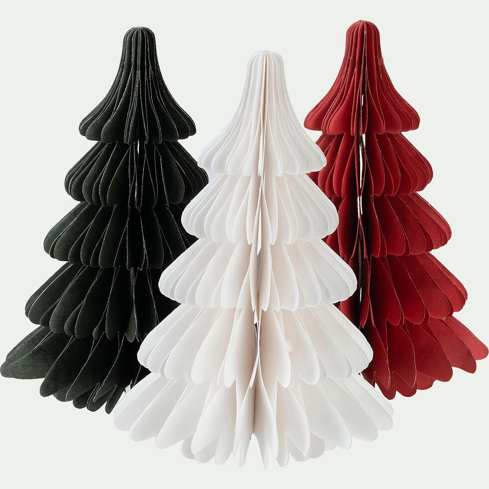 Sapin à poser en papier rouge H18cm-TROPHIME