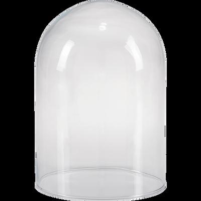 Cloche en verre transparent H23cm-LUGOA