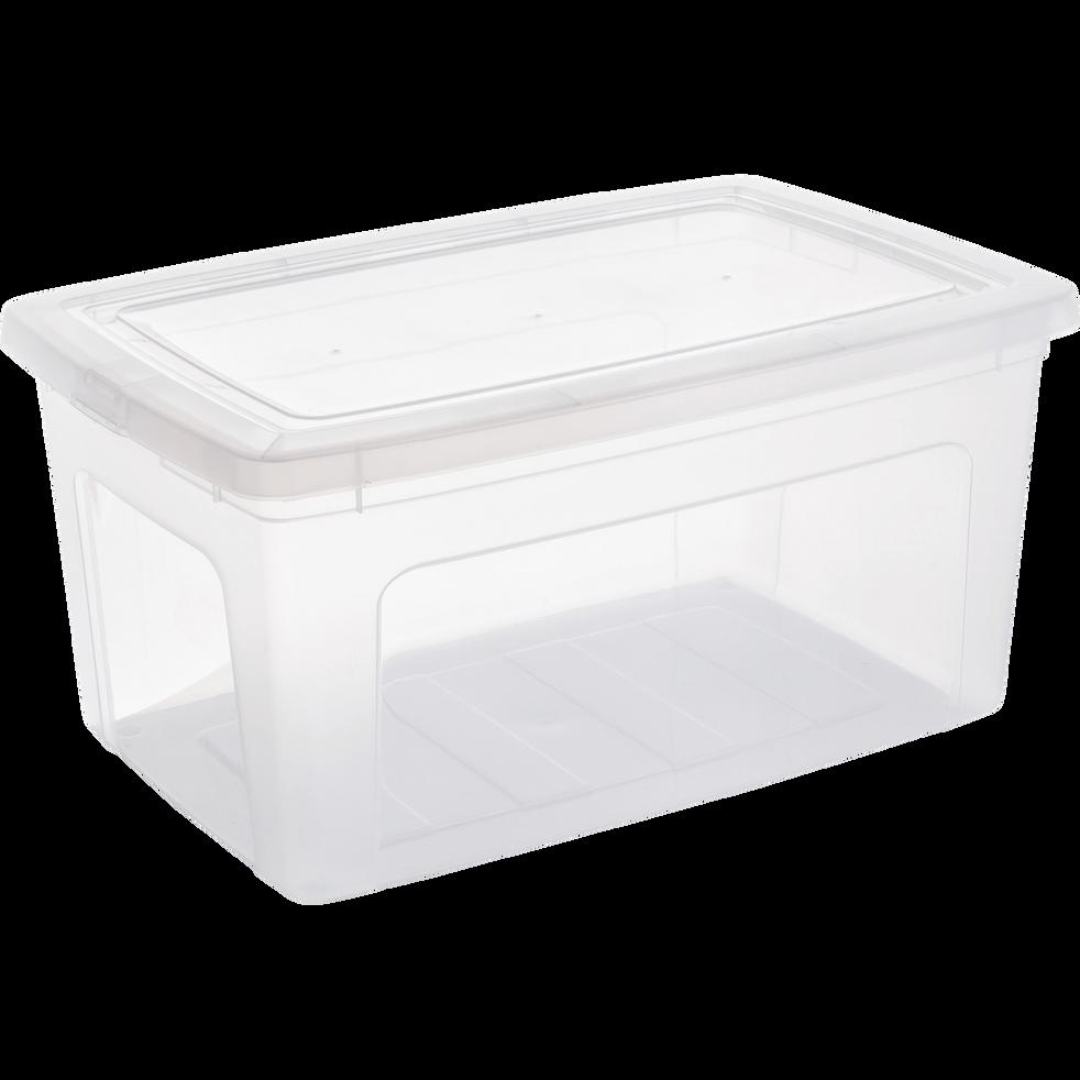 Boîte avec couvercle en plastique 50L-MODULAR