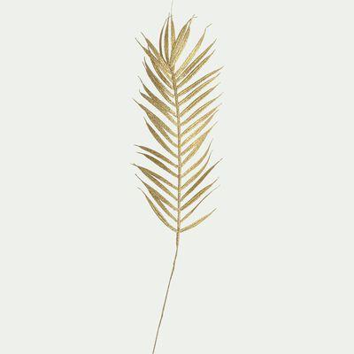 Feuille de palmier artificielle doré H66cm-DIOS