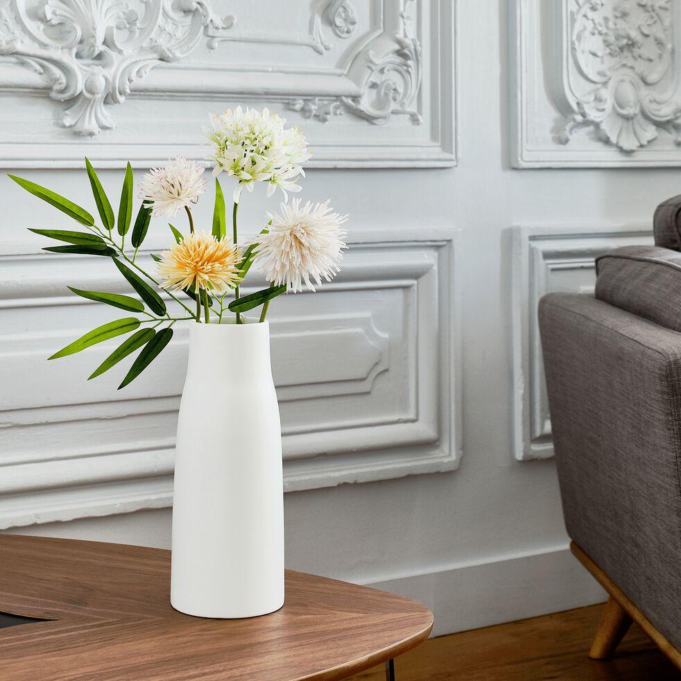 Fleur artificielle chrysanthème - blanc et rose H53cm-MUMS
