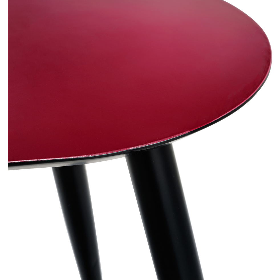 Table basse rouge sumac-ECTOT