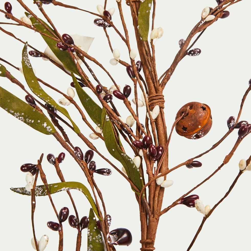 Guirlande de noël marron et vert L177cm-HOUDOUR