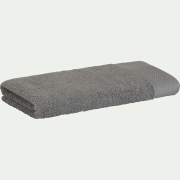 Serviette de toilette en coton peigné - gris restanque 50x100cm-AZUR