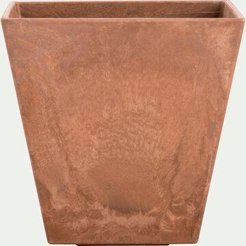 Pot à réserve d'eau - marron H24cm-ELLA