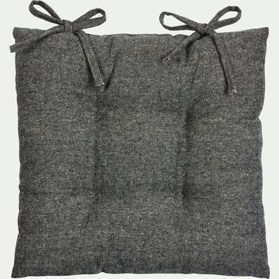 Galette de chaise piquée en polyester - gris 40x40cm-CORBIN